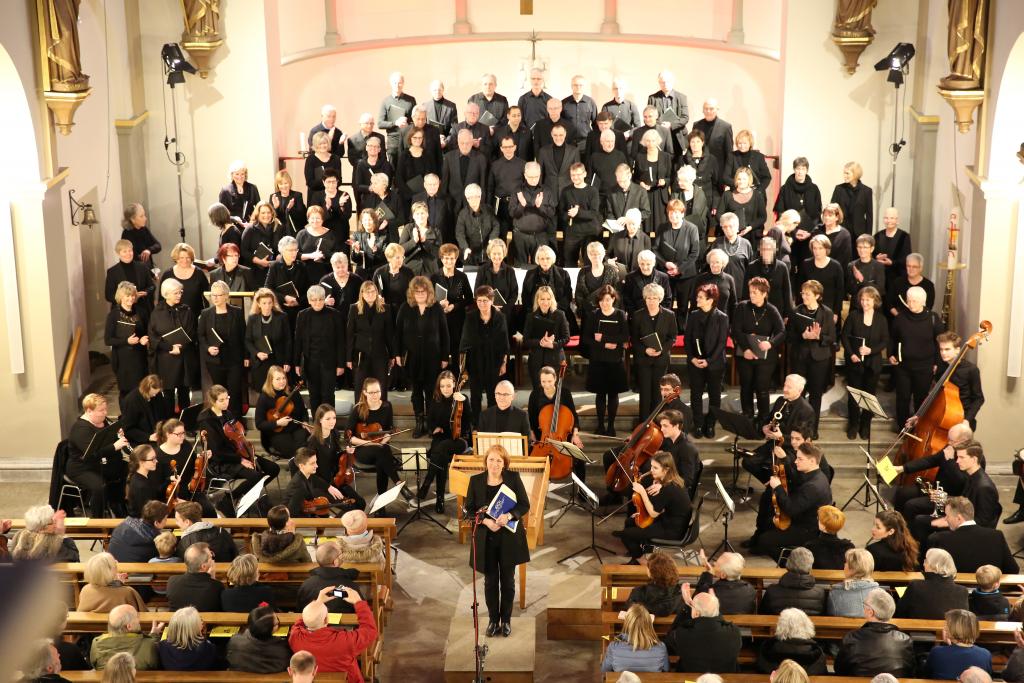 Dank an Chor und Musiker